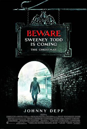 Nuevo póster de Sweeney Todd, The Demon Barber of Fleet Street